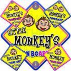 NEW * LITTLE MONKEY * TWIST * Baby on Board Car Window Sign for boys and girls