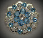 Crystal Berry Concho ~ Handcrafted with Light Blue Crystal  Swarovski Elements