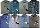 Mens Short Sleeve Poly Cotton Check Shirt M - XXL By Tom Hagan