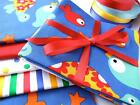 Kids baby 100% cotton UNDER SEA FISH SEAHORSE turtle shark crafts bunting fabric