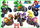 MARIO BROS STICKER WALL DECAL OR IRON ON TRANSFER T-SHIRT FABRICS MOTOR BIKES CR