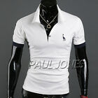 Summer Cozy COOL Mens Slim Fit POLO Shirt Short Sleeve T-shirt Tops Basic Tees