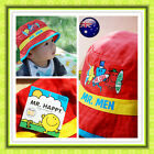 Boys Toddler Child Mr. Men Pure Cotton Bucket Sun Hat Cap Wide Brim
