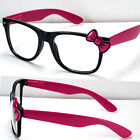 New Womens Clear Lens Frame Eye Glasses Bow Bowknot Hello Kitty Party Fashion