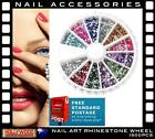 1500pcs Nail Art Rhinestone Wheel Assorted Round/Mixed Shape Glitter Tips NEW