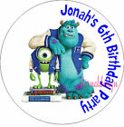 PERSONALISED BIRTHDAY MONSTER INC STICKERS SEALS GIFTS FAVOURS INVITES KIDCS 4