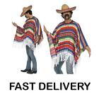 Mexican Costume Amigo Poncho Gringo Cowboy Bandit Wild West  Fancy Dress NEW