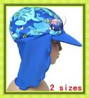 Lycra Sun Surf Hat Toddler Kids Childrens Child Cap Beach, Pool Sz 2-5 or 5-9 yr