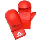 NEW ADIDAS MENS TRAINING WKF KARATE MITTS RED BOXING GLOVES WITH THUMB