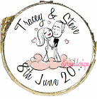 PERSONALISED WEDDING DAY COUPLE ON CLOUD MINT CHOCOLATES FAVOURS SWEETS WDMC 15