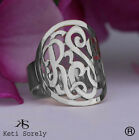 Personalized Sterling Silver Monogram ring Order Any Name