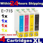4 Non-OEM T0711 T0712 T0713 T0714 T0715 Cheap Ink Cartridges for Epson Printers