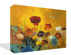 Floral Flower Poppies  Canvas Print Wall Artwork Premium Picture Framed
