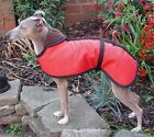 Waterproof Whippet Dog Walking Coat Jacket in Hi Viz Yellow Red Blue Green etc