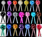 10 PULL BOWS RIBBON DECORATIONS WEDDING PEW GIFT PARTY CAR  BALLOON CAKE BASKET