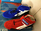 NIB Sparco Speedway Mid-Top Racing Suede / Leather Shoes Red Size 41 / 46 Nomex