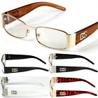 Men Women DG Clear Lens Designer Rectangular Eyeglasses Retro Fashion Nerd Frame