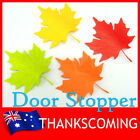 Cute Maple Leaf Autumn Plastic Door Stopper Home Decor *Green Orange Red Yellow*