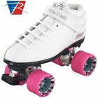 Riedell R3 Speed Girls/Ladies/Womens Roller Derby Quad Skates - White UK Size