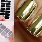 16 x Foil Armour Gel Nail Art Sticker Decal Patch Wraps Nail Decor Manicure Set