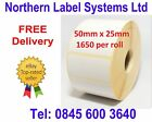 50mm x 25mm WHITE Labels for BROTHER TD-4000 / TD-4100N