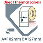 102mm x 127mm WHITE Labels for BROTHER TD-4000 / TD-4100N