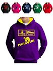 Kids Parkour Hoody Pullover Free-Running Hooded Sweatshirt Jumper Boys Girls