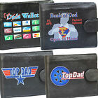 Dad Funny Humours Mens Leather Wallet Novelty gift Fathers Day Joke Comical fun