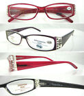 L375 Diamante Detail Plastic Reading Glasses+0.5+0.75+1+100+1.25+125+1.5+150+175