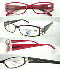 L375 Superb Quality Plastic Reading Glasses/Spring Hinge/Fashion Diamante Detail