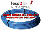 Coil Blue water mains MDPE pipe roll 20mm 25mm 32mm x 25mtr 50mtr