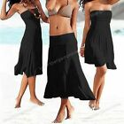 a white black red beachwear sexy Wedding Party Cocktail Evening Maxi Dress Skirt