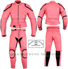 LADIES PINK HORIZON WOMENS MOTORBIKE  MOTORCYCLE / FASHION LEATHER JACKET & SUIT