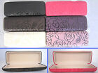 C11 Rectangular Reading Glasses Case/Rose Pattern Design &PVC Faux Leather Cover