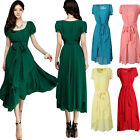 New Women's Maxi Chic Chiffon Vintage Long Ball Party Irregular Evening Dress