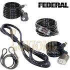 Federal High Security 15mm Spiral Steel Double Loop Twisted Heavy Duty Cable