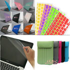 """4in1 Rubberized Hard Case+ KB Cover+ LCD Film+ Bag for MacBook Air 11"""" 13""""inch"""