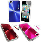 Glossy Shiny Electroplate Hard Case Cover Fits FOR iPhone 4 4G Free Mini Stylus