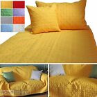 Quilted Bedspread Throws & Filled Cushion Covers Large Small Blanket Bed Sofa