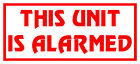 4x This Unit Is Alarmed Sticker, Catering Trailer, Shop Window Graphic / Decal.