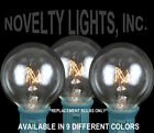 25 Pack G40 Outdoor Lighting Patio Christmas Globe Shape Replacement Bulbs