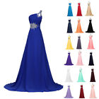 Fashion Women Sexy Formal Long Chiffon Beaded Cocktail Party Ballgown Prom Dress