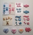 Embroidered Baby Motifs Embellishments Toppers Sewing Cards Crafts TOP QUALITY