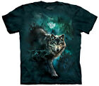 Night Wolves Collage Adult  Animals Unisex T Shirt The Mountain
