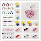 2013 NEW HOT Genuine 12MM CZ Crystal Bead 925Silver chain Necklace/earrings Sets