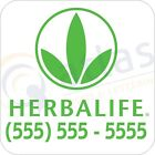 """(2) Herbalife 12"""" X 12"""" Car Magnets-INCLUDES YOUR PHONE NUMBER- INCREASE LEADS!"""