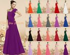 New 16 Colour One Shoulder Bridesmaid Prom Evening Wedding Dress Party Size 6-26