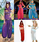 Купить GENIE Jasmine Aladdin Princess Adult Costume Fancy Dress Arabian Belly Dancer с доставкой по россии и снг