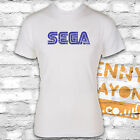 SEGA VINTAGE LOGO T-SHIRT, COOL GAMER DESIGN - GAMING - WHITE GILDAN - RETRO