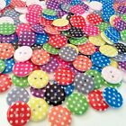 Assorted Spotty Polka Dot Round Funky Buttons Red Blue Pink Lime Craft Sewing